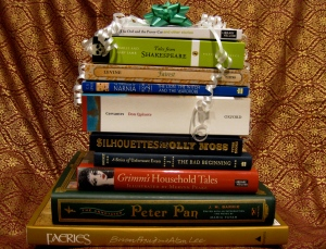 Perfect! A nice stack of books for holiday cheer.